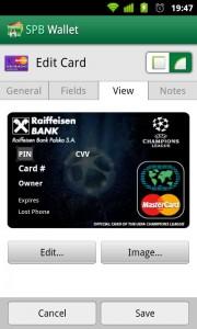 SPB Wallet - Credit card sample 2