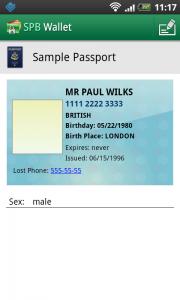 SPB Wallet - Passport incomplete sample