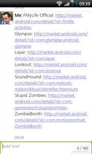 ShareMyApps App list sent- Easy!