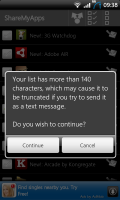 ShareMyApps Useful Text Limit Warning