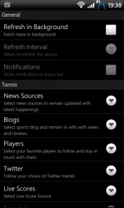 Sports Eye Soccer Options