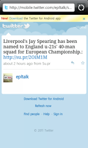Sports Eye Soccer Twitter Links to website