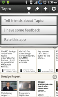 Taptu Feedback Options
