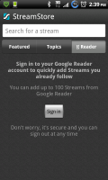 Taptu Import Google Reader