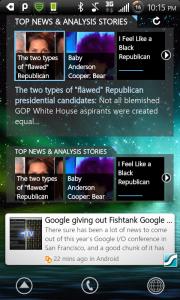 Taptu and Pulse News Reader Widget Comparison