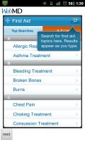 WebMD First Aid