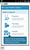 WebMD Local Health Listings