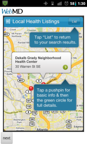 WebMD Map and More