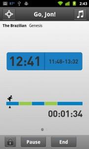adidas miCoach Workout Progress