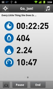 adidas miCoach Workout Status
