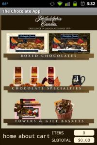 Chocolate App Main