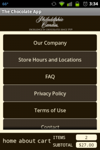 Chocolate App About