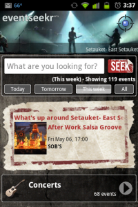 eventseekr Main Page