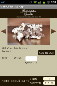 Chocolate App Purchasing