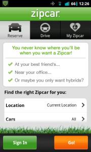 Zipcar Search