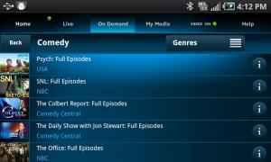 AT&T U-Verse Live TV Genres