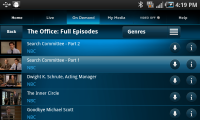 AT&T U-Verse Live TV Shows with Features to Download Videos
