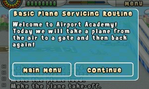 Airport Mania - Tutorial welcome.
