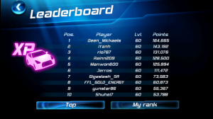Asphalt 6 Adrenaline HD Multiplayer Leaderboards