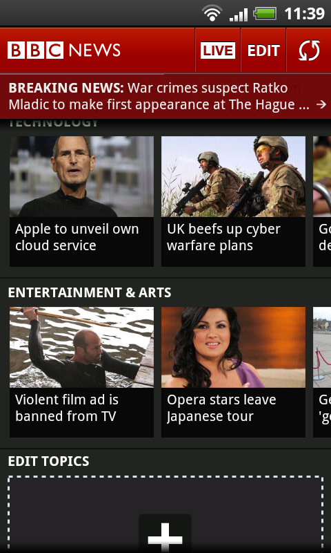BBC News, their Official App for keeping up with UK & Worldwide News plus in-story Videos
