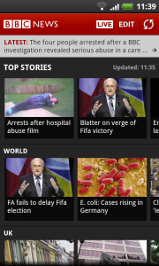 BBC News - Scrollable Feeds.