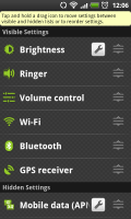 BatteryXL - Customizable Settings List