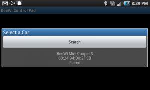 Beewi Bluetooth Control Pad Select Car
