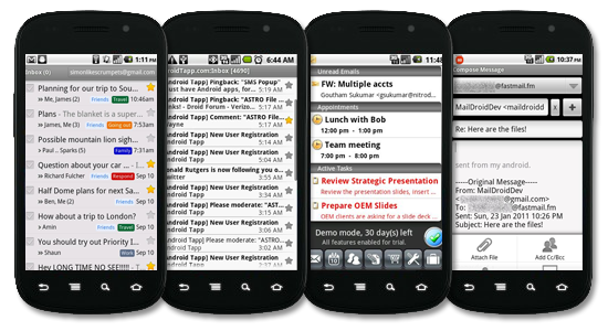 4 Best Android Apps for Email. Android App Recommendations from the Experts at AndroidTapp.com