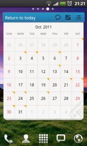 Calendar GOWidget - Scroll to later months