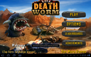 Death Worm Title Screen