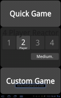 Four Player Reactor Main Screen