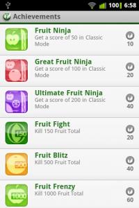 Fruit Ninja Achievments