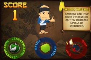 Fruit Ninja Classic Game Over