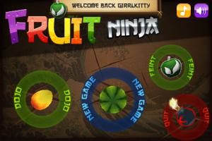 Fruit Ninja Main Page