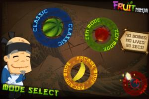 Fruit Ninja Mode Select