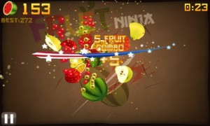 Fruit Ninja in Game Play 1