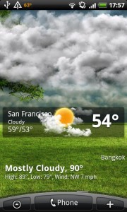GO Weather Cloudy Home Screen