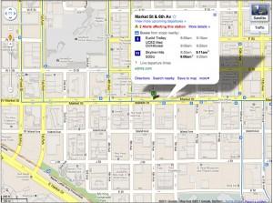Google Maps Desktop Live Transit Times