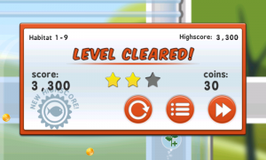 Grow - Level cleared screen