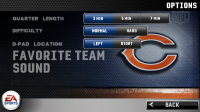 Madden NFL 11 Options