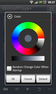 MoboPlayer - Background color settings.