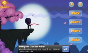 Moon Chaser - Menu screen