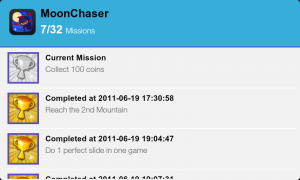 Moon Chaser - Mission screen