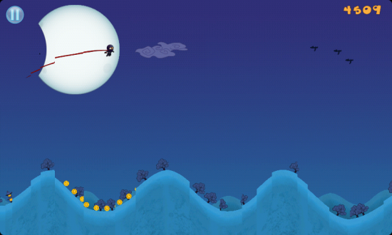 Moon Chaser, get Your Hill-Surfing Ninja to the Mountain before the Moon Eclipses