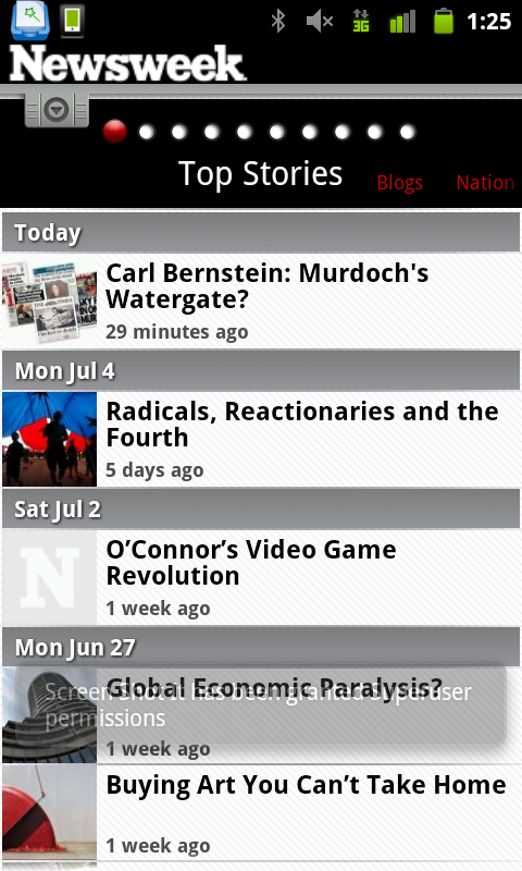 Newsweek Mobile, a Mediocre Attempt at a News App for Android