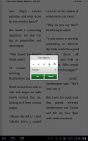 Nook for Android Font Options