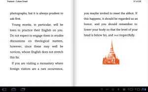 Nook for Android Split Page View