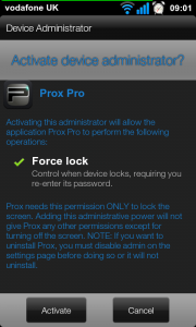 Prox Pro - Admin Rights required.