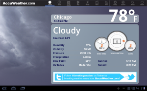 Samsung Galaxy Tab 10.1 Accuweather
