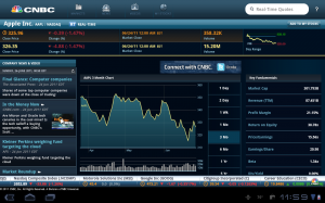 Samsung Galaxy Tab 10.1 CNBC Real-Time